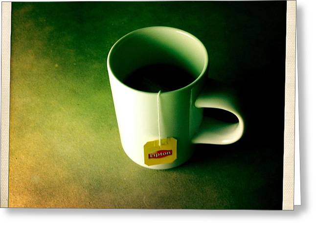 A Cup Of Tea At Night II Greeting Card by Marco Oliveira