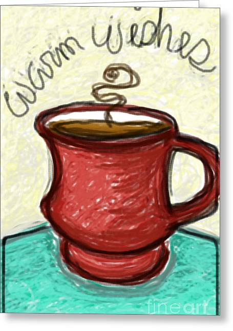 Cup Pastels Greeting Cards - A cup of wishes Greeting Card by Susan George