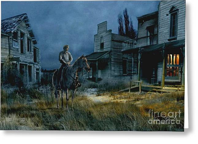 Old Town Digital Art Greeting Cards - A Curious Light Greeting Card by Tom Straub