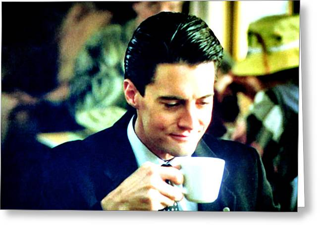 Special Agent Dale Cooper Greeting Cards - A Damn Fine Cup of Coffee Greeting Card by Luis Ludzska