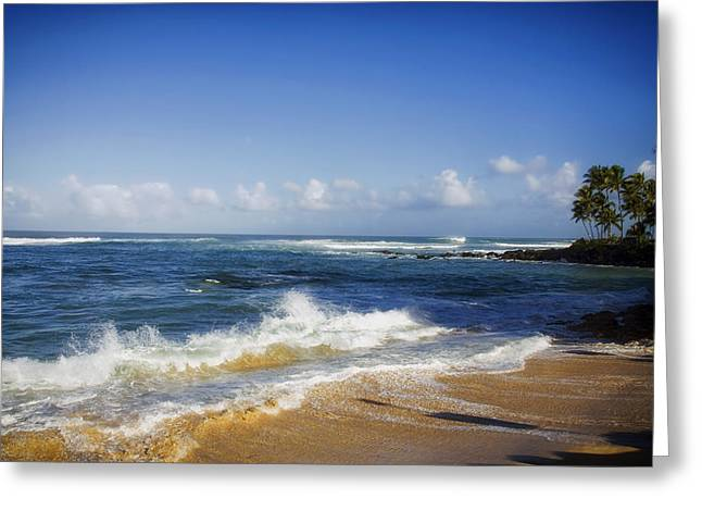North Shore Greeting Cards - A Day at North Shore Beach Greeting Card by Mountain Dreams