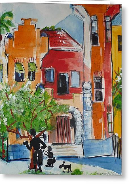 A Day At The Bastille Greeting Card by Suzanne Willis