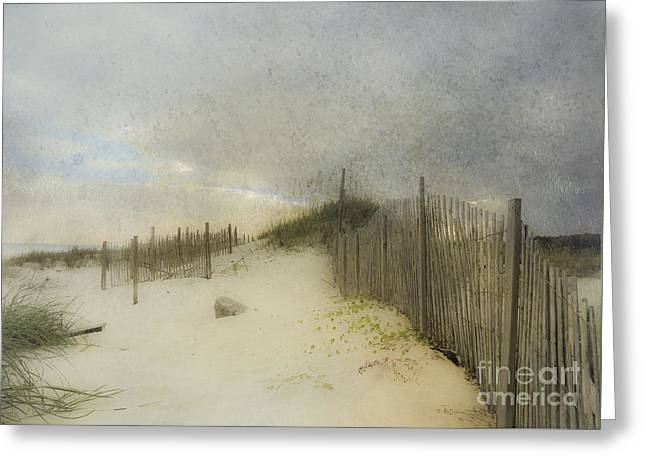 A Day At The Beach Greeting Card by Betty LaRue