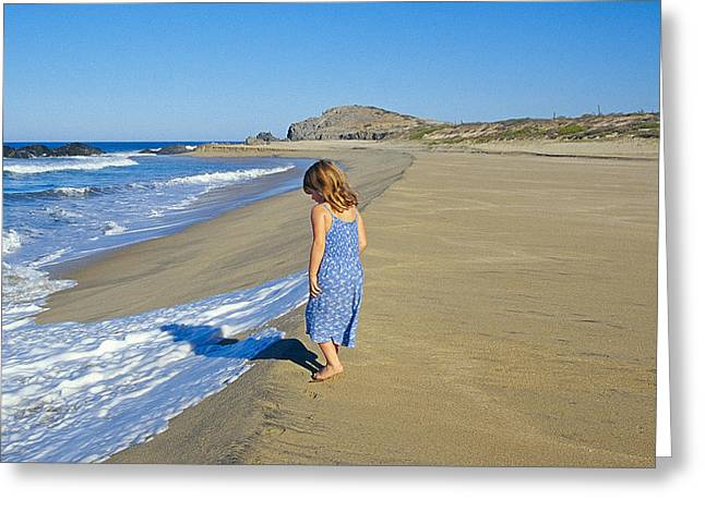 Caucasion Greeting Cards - A Day At The Beach Greeting Card by Buddy Mays