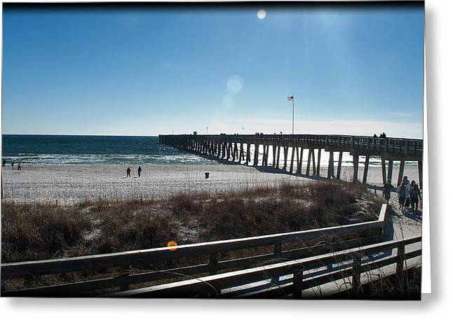 Panama City Beach Greeting Cards - A Day at the Beach Greeting Card by George Taylor