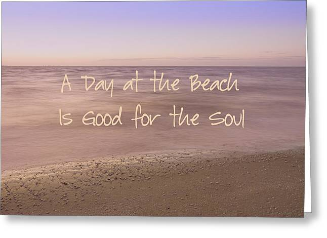 Pleasing Greeting Cards - A Day at the Beach Greeting Card by Kim Hojnacki
