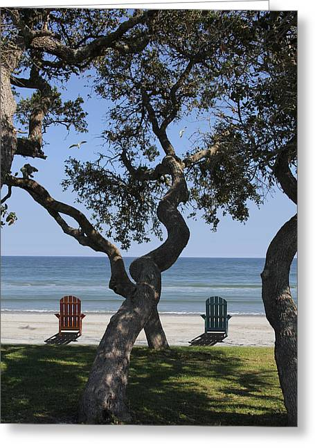 Ocean Scenes Digital Art Greeting Cards - A Day at the Beach Greeting Card by Mike McGlothlen