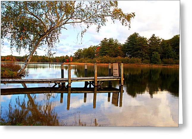 Jetty View Park Greeting Cards - A Day At The Lake Greeting Card by Flora Ehrlich