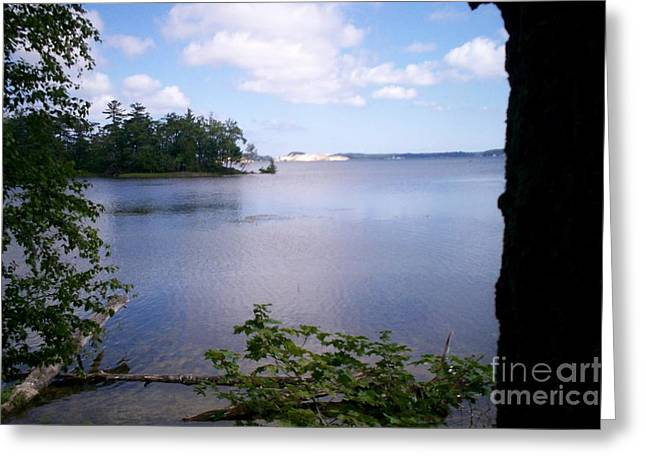Hamlin Lake Greeting Cards - A Day at the Lake Greeting Card by Kimberly Hamlin