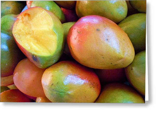 Mango Greeting Cards - A Day At The Market #8 Greeting Card by Robert ONeil
