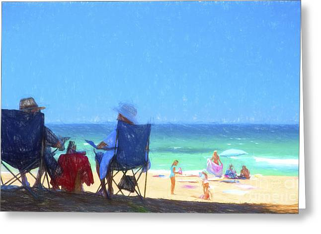 Whale Beach Greeting Cards - A day at Whale Beach Greeting Card by Sheila Smart