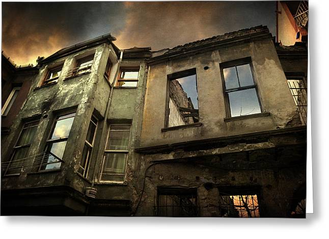 Abandoned Houses Greeting Cards - A Day in Balat Greeting Card by Taylan Soyturk