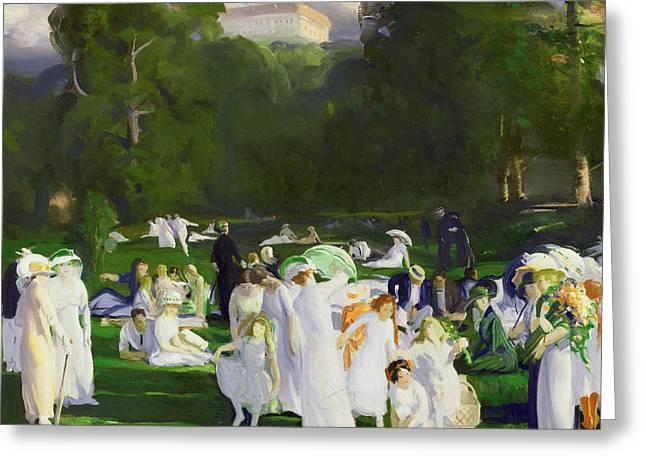 Family Walks Greeting Cards - A Day in June Greeting Card by George Wesley Bellows