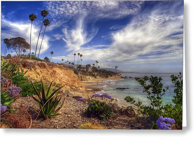 A Day In Laguna Beach Greeting Card by Sean Foster