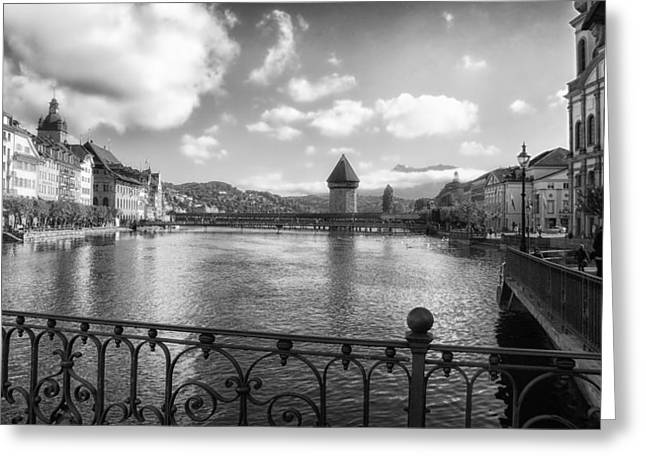 Lucerne Greeting Cards - A Day in Lucerne Greeting Card by Mountain Dreams