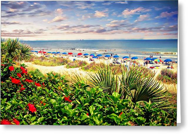 Myrtle Beach Ocean Photography Greeting Cards - A Day In Paradise Greeting Card by Kathy Jennings
