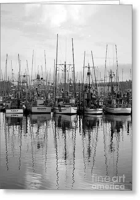 Boats In Harbor Greeting Cards - A Day In the Bay Greeting Card by Linda Paoluccio