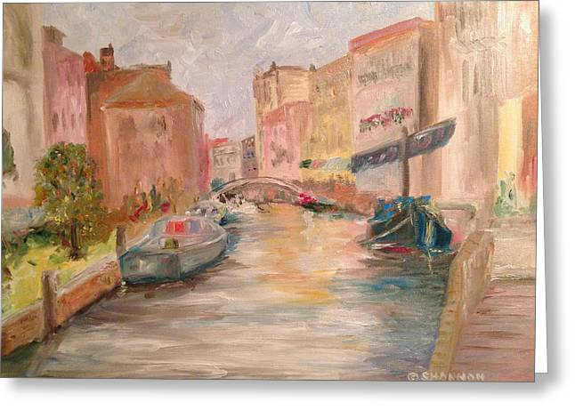 Recently Sold -  - Boats In Water Greeting Cards - A Day in the Life Greeting Card by Shannon O