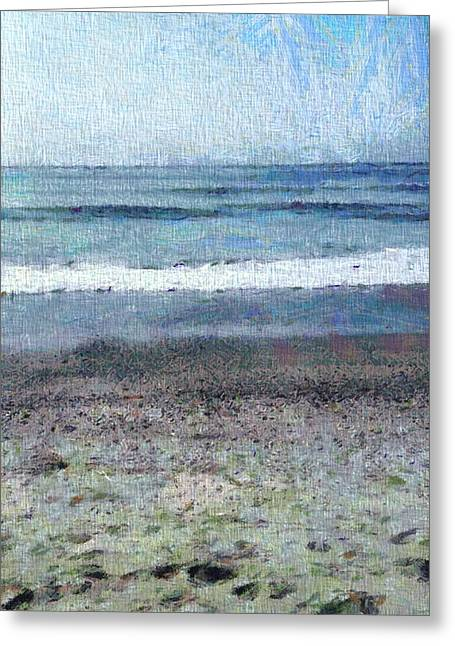 Beach Photography Mixed Media Greeting Cards - A Day On The Beach Greeting Card by Dan Sproul