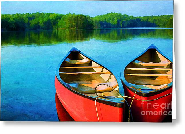 Mystical Landscape Greeting Cards - A Day on the Lake Greeting Card by Darren Fisher