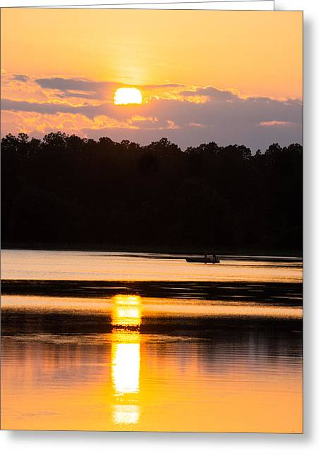 Reflections In River Greeting Cards - A Day On The Lake Greeting Card by Parker Cunningham
