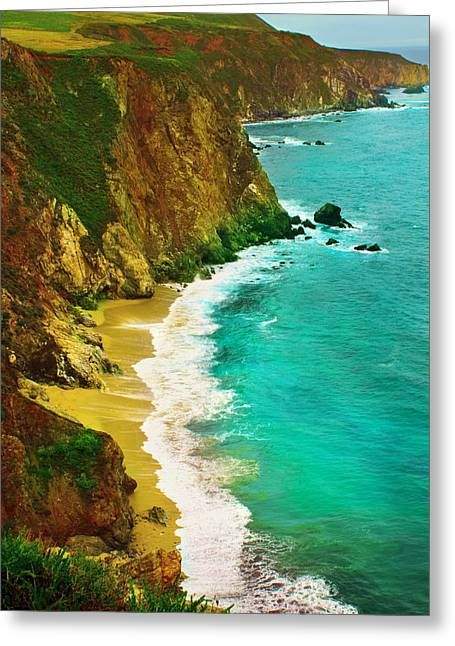 Picture Of Big Sur Beach Greeting Cards - A Day on the Ocean Greeting Card by Bryant Coffey