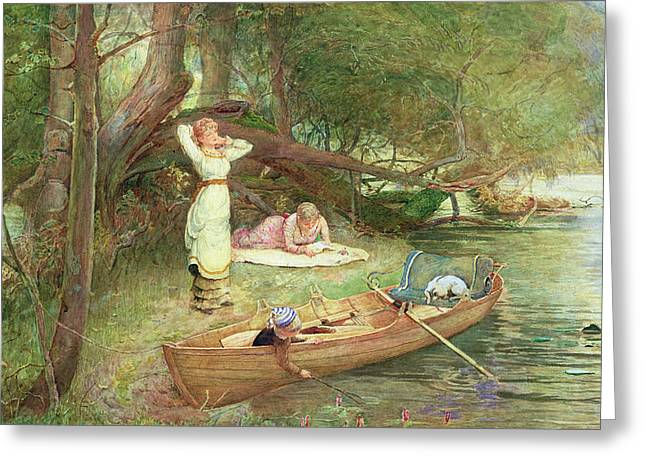 River Paintings Greeting Cards - A Day On The River Greeting Card by John Parker