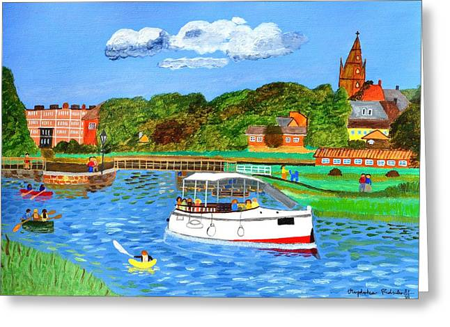 Leasure Greeting Cards - A day on the river Greeting Card by Magdalena Frohnsdorff