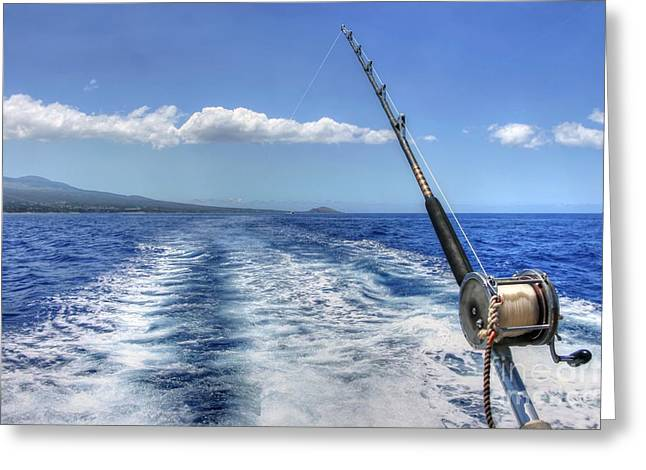 Maui Greeting Cards - A day out fishing in Maui Greeting Card by Andy Jackson