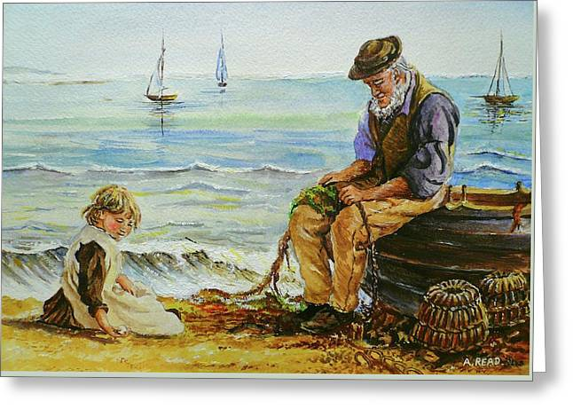 A Day With Grandad Greeting Card by Andrew Read