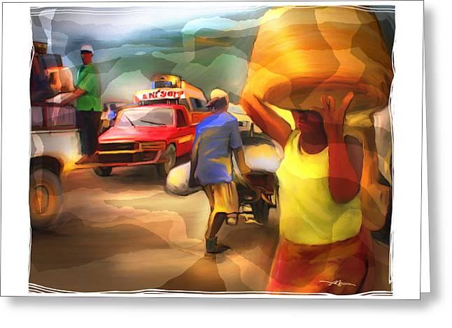 Haitian Digital Greeting Cards - A Days Work Greeting Card by Bob Salo