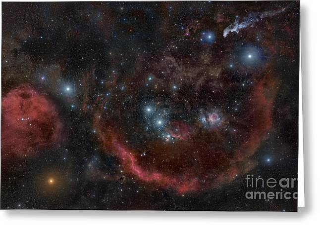 Orionis Greeting Cards - A Deep And Large Wide Field Greeting Card by Rogelio Bernal Andreo