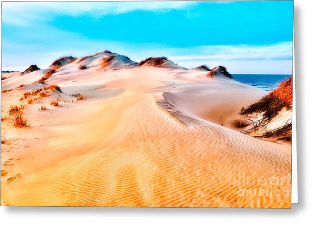 Paint Photograph Greeting Cards - A Delightful Day at the Beach II Greeting Card by Dan Carmichael