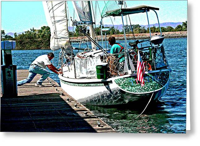 Stockton Greeting Cards - A Delta Friend Greeting Card by Joseph Coulombe