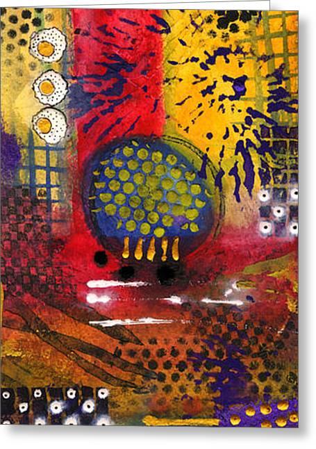 Survivor Art Greeting Cards - A Desert Art Fair Greeting Card by Angela L Walker