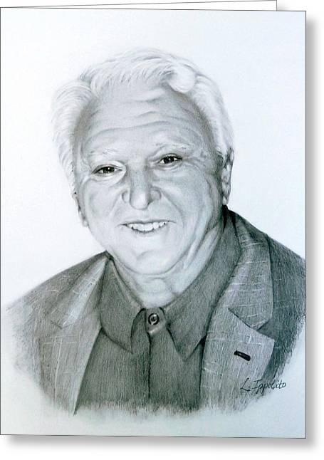 Headshot Drawings Greeting Cards - A Distinguished Gentleman Greeting Card by Lori Ippolito