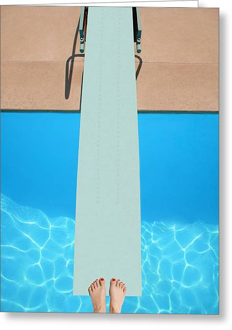 Diving Board Greeting Cards - A Diving Board Greeting Card by Don Hammond