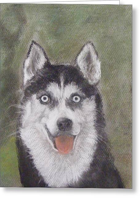 Husky Pastels Greeting Cards - A Dog For Lisa Greeting Card by Thomas McCaskie