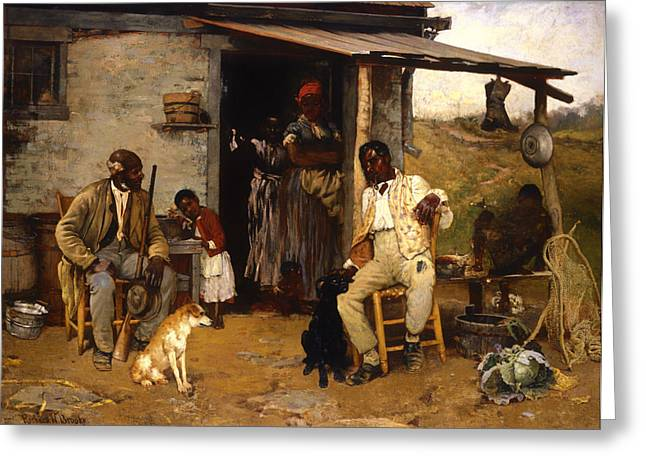 Sharecropper Greeting Cards - A Dog Swap Greeting Card by Richard Brooke