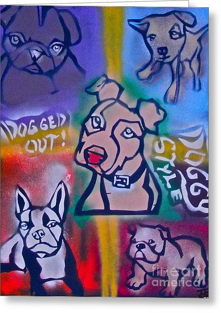 Love The Animal Greeting Cards - A Doggy Style Greeting Card by Tony B Conscious