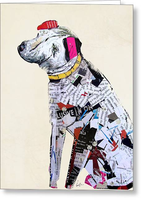 Dog Portrait Mixed Media Greeting Cards - A Dogs Life Greeting Card by Bri Buckley