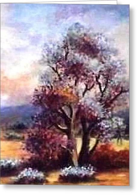 Nature Scene Pastels Greeting Cards - A Door of Hope 2 Greeting Card by Hazel Holland