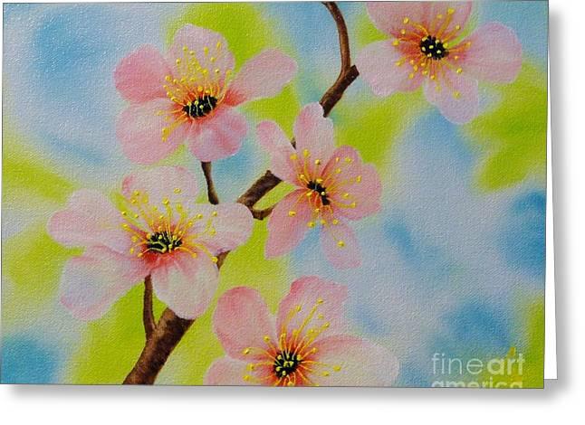 A Dream Of Spring Greeting Card by Carol Avants
