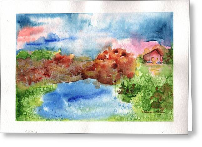 Water Color Greeting Cards - A Dream Place Greeting Card by Sharon Mick