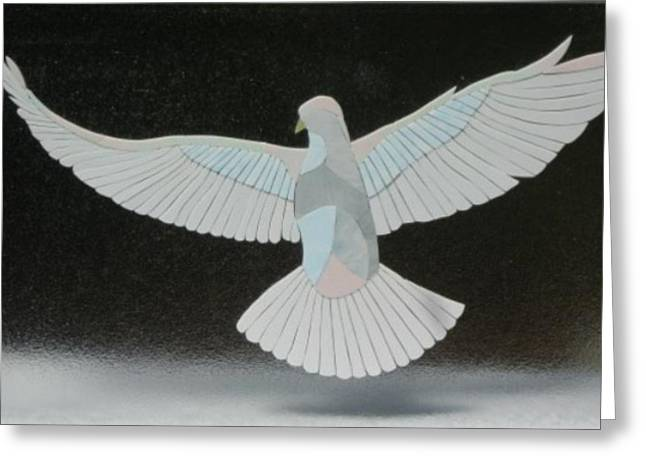 Peace Glass Art Greeting Cards - A Dream Takes Flight Greeting Card by Charles McDonell