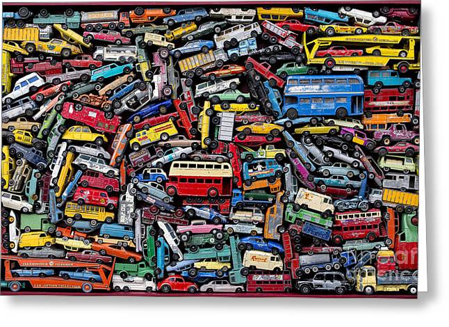Classic Bus Greeting Cards - A Drive Down Memory Lane Greeting Card by Tim Gainey