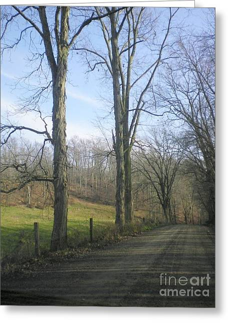 A Drive In The Country Greeting Card by R A W M