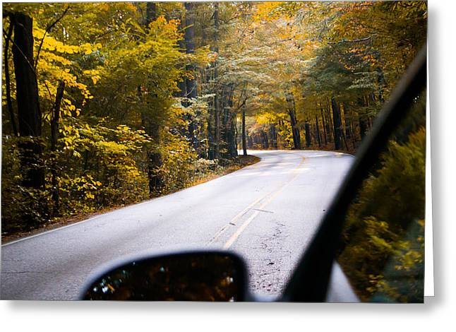 All Around Greeting Cards - A Drive Through Autumn Greeting Card by Shelby  Young
