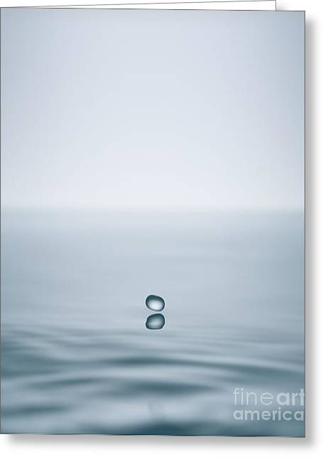Surface Tension Greeting Cards - A Drop In The Ocean Greeting Card by David Parker