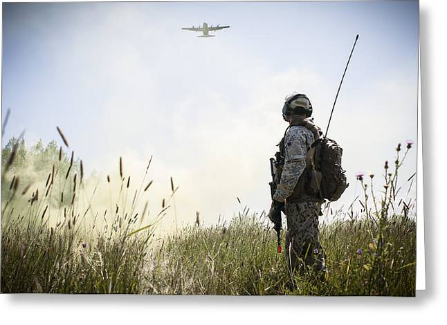 Tacp Greeting Cards - A drop zone with smoke Greeting Card by Celestial Images